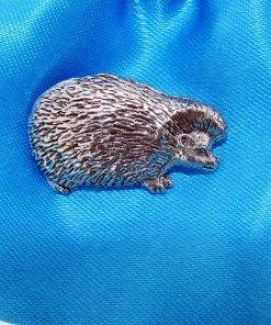 Hedgehog Pin Badge - high quality pewter gifts from Pageant Pewter