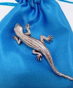 Lizard (Gecko) Pin Badge - high quality pewter gifts from Pageant Pewter