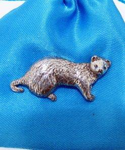 Ferret Pin Badge - high quality pewter gifts from Pageant Pewter