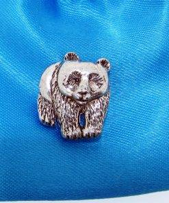 Panda Pin Badge - high quality pewter gifts from Pageant Pewter