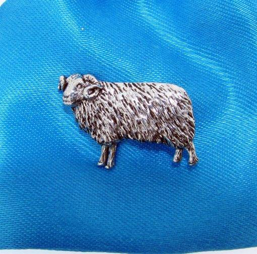 Sheep Pin Badge - high quality pewter gifts from Pageant Pewter