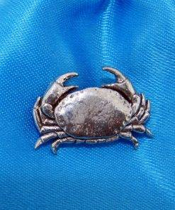 Crab Pin Badge - high quality pewter gifts from Pageant Pewter