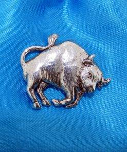 Bull Pin Badge - high quality pewter gifts from Pageant Pewter