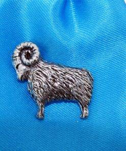 Ram Pin Badge - high quality pewter gifts from Pageant Pewter