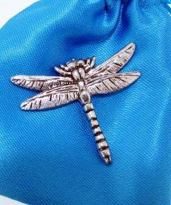 Dragonfly Pin Badge - high quality pewter gifts from Pageant Pewter