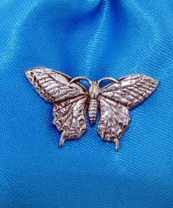 Butterfly Pin Badge - high quality pewter gifts from Pageant Pewter