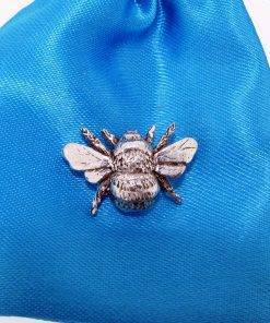 Bee Pin Badge - high quality pewter gifts from Pageant Pewter