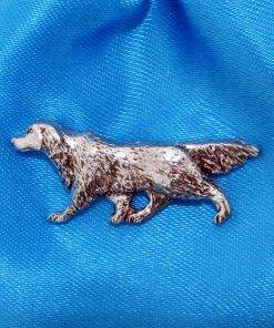 Setter Pin Badge - high quality pewter gifts from Pageant Pewter