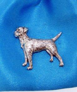 Border Terrier Pin - high quality pewter gifts from Pageant Pewter