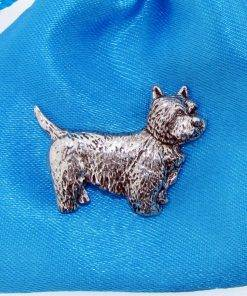Westie Pin Badge - high quality pewter gifts from Pageant Pewter