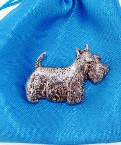 Scottie Pin Badge - high quality pewter gifts from Pageant Pewter