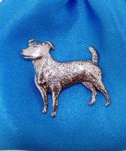 Jack Russell Pin Badge - high quality pewter gifts from Pageant Pewter