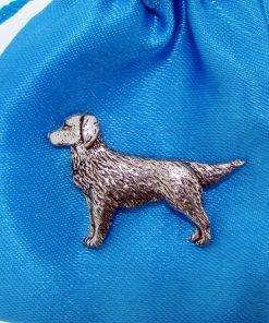 Retriever Pin Badge - high quality pewter gifts from Pageant Pewter