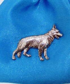 German Shepherd Pin Badge - high quality pewter gifts from Pageant Pewter