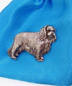 King Charles Spaniel Pin Badge - high quality pewter gifts from Pageant Pewter