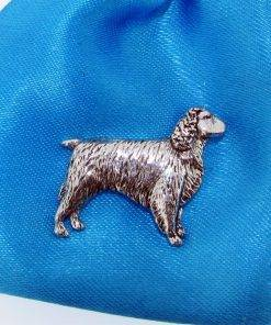 Springer Spaniel Pin Badge - high quality pewter gifts from Pageant Pewter