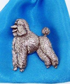 Poodle Pin Badge - high quality pewter gifts from Pageant Pewter