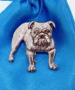 Bulldog Pin Badge - high quality pewter gifts from Pageant Pewter
