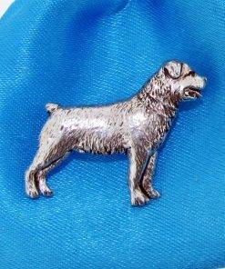 Rottweiler Pin Badge - high quality pewter gifts from Pageant Pewter