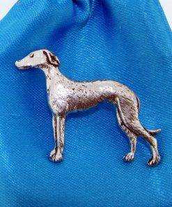 Greyhound Pin Badge - high quality pewter gifts from Pageant Pewter