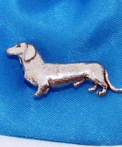 Dachshund Pin Badge - high quality pewter gifts from Pageant Pewter