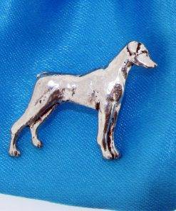 Dobermann Pin Badge - high quality pewter gifts from Pageant Pewter