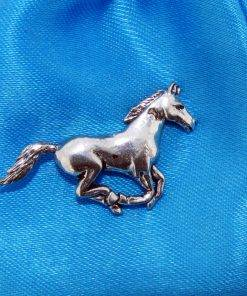 Running Horse Pin Badge - high quality pewter gifts from Pageant Pewter