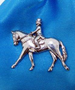 Dressage Pin Badge - high quality pewter gifts from Pageant Pewter