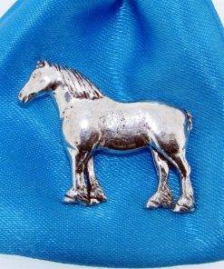Heavy Horse Pin Badge - high quality pewter gifts from Pageant Pewter