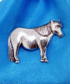 Shetland Pony Pin Badge - high quality pewter gifts from Pageant Pewter