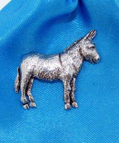Donkey Pin Badge - high quality pewter gifts from Pageant Pewter