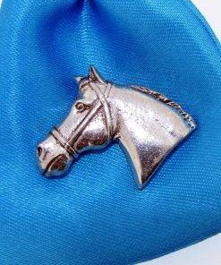 Horse Head With Tack Pin - high quality pewter gifts from Pageant Pewter