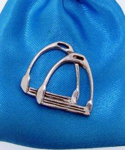 Stirrups Pin Badge - high quality pewter gifts from Pageant Pewter