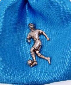 Footballer Pin Badge - high quality pewter gifts from Pageant Pewter