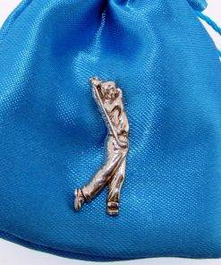 Male Golfer Pin - high quality pewter gifts from Pageant Pewter