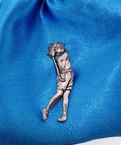 Female Golfer Pin Badge - high quality pewter gifts from Pageant Pewter
