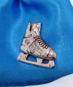 Ice Hockey Boot Pin Badge - high quality pewter gifts from Pageant Pewter