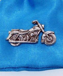 Classic Motorbike Pin Badge - high quality pewter gifts from Pageant Pewter