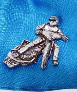 Grass Track Bike Pin Badge - high quality pewter gifts from Pageant Pewter