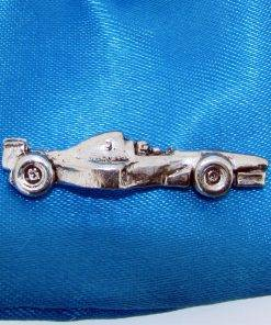 Racing Car Pin Badge - high quality pewter gifts from Pageant Pewter