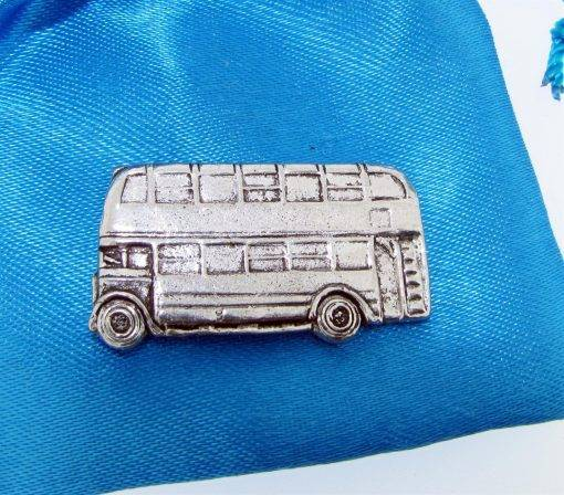 Bus Pin Badge - high quality pewter gifts from Pageant Pewter