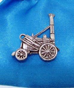 Stephenson's Rocket Pin Badge - high quality pewter gifts from Pageant Pewter
