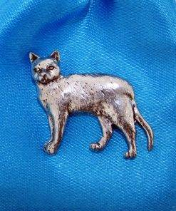 Burmese Cat Pin Badge - high quality pewter gifts from Pageant Pewter