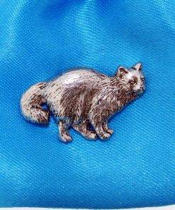 Birman Cat Pin Badge - high quality pewter gifts from Pageant Pewter