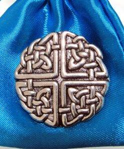 Large Celtic Knot Pin Badge - high quality pewter gifts from Pageant Pewter