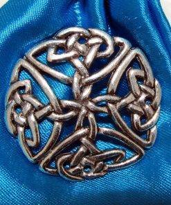 Large Celtic Open Pin Badge - high quality pewter gifts from Pageant Pewter