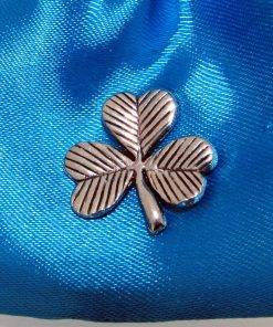 Shamrock Pin Badge - high quality pewter gifts from Pageant Pewter