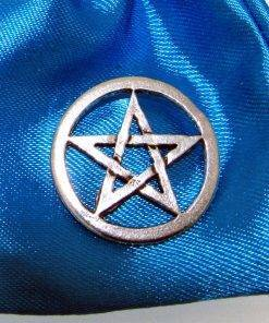 Open Pentangle Pin Badge - high quality pewter gifts from Pageant Pewter