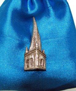 Chesterfield Spire Pin Badge - high quality pewter gifts from Pageant Pewter