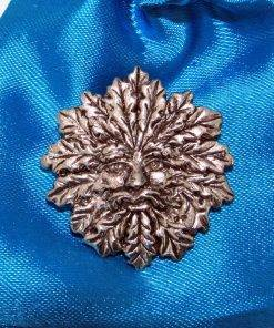 Green Man Pin Badge - high quality pewter gifts from Pageant Pewter